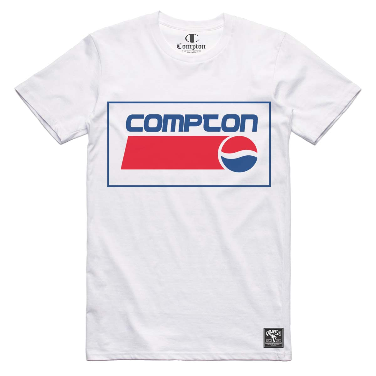 Camiseta Compton Peps Logo Branca