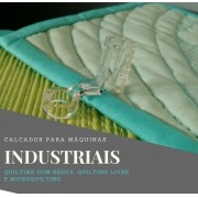Calcador transparente Clarity para régua e microquilting – máquinas industriais