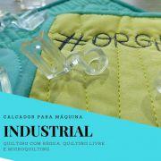 Calcador transparente Multi para régua e microquilting – máquinas industriais