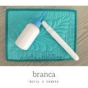 Caneta + Refil 60ml - tinta BRANCA para Placa de Quilting OQS