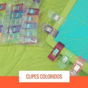 Clipes coloridos para Quilting
