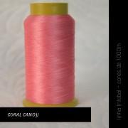 Linha trilobal - Cor coral candy- 1000 metros