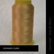 Linha trilobal - Cor dourado claro- 1000 metros