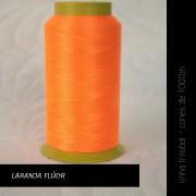 Linha trilobal - Cor laranja flúor- 1000 metros