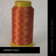 Linha trilobal - Cor laranja tijolo- 1000 metros