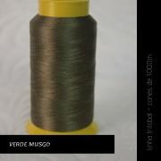 Linha trilobal - Cor verde musgo- 1000 metros
