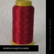 Linha trilobal - cor Vermelho Maçã do Amor - 1000 metros