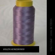 Linha trilobal - Cor violeta acinzentado- 1000 metros