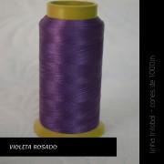 Linha trilobal - Cor violeta rosado- 1000 metros