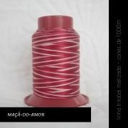 Linha trilobal Matizada - cor Maçã-do-amor - 1000 metros