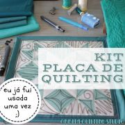 SALDÃO KIT Placa de Quilting OQS
