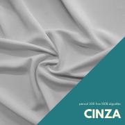 Tecido Percal Cor Cinza Claro - 100% algodão com 2,50m de largura