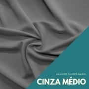 Tecido Percal Cor Cinza Médio - 100% algodão com 2,50m de largura