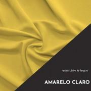 Tecido Tricoline Liso Cor Amarelo Claro 100% algodão