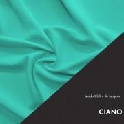 Tecido Tricoline Liso Cor Ciano 100% algodão