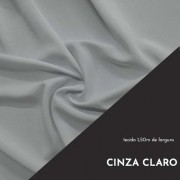 Tecido Tricoline Liso Cor Cinza Claro 100% algodão