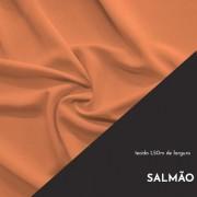 Tecido Tricoline Liso Cor Salmão 100% algodão