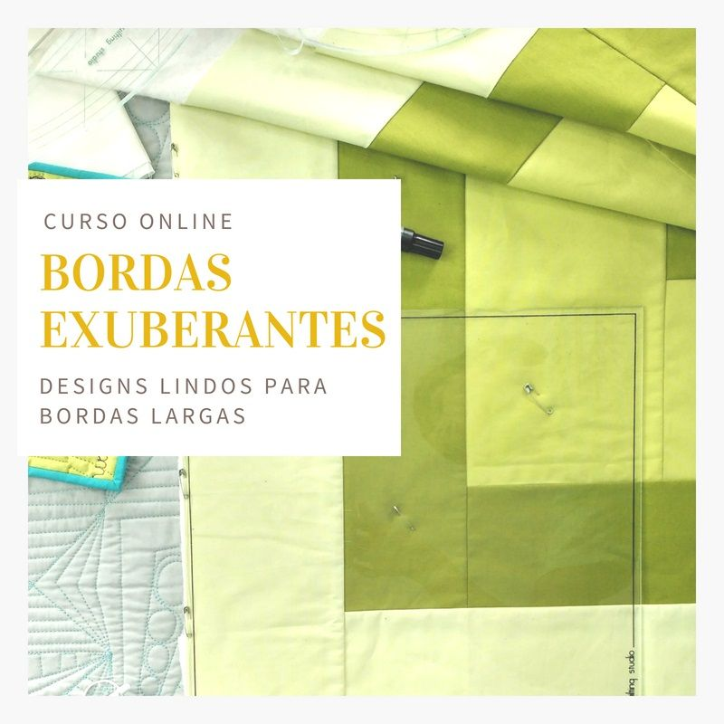 Bordas Exuberantes - 6 designs para bordas largas - curso online