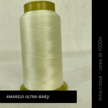 Linha trilobal - Cor amarelo ultra-baby- 1000 metros