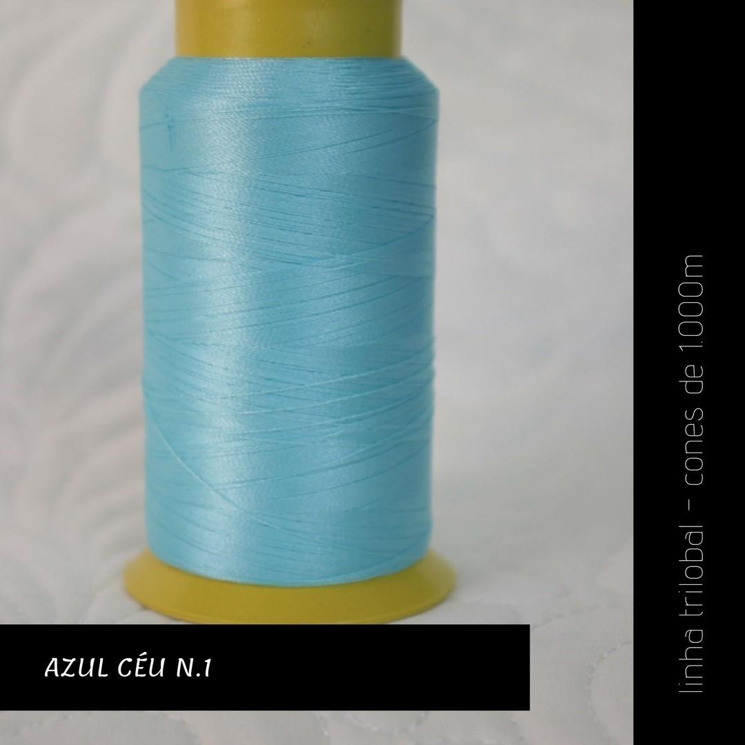 Linha trilobal - cor Azul Céu No1 - 1000 metros