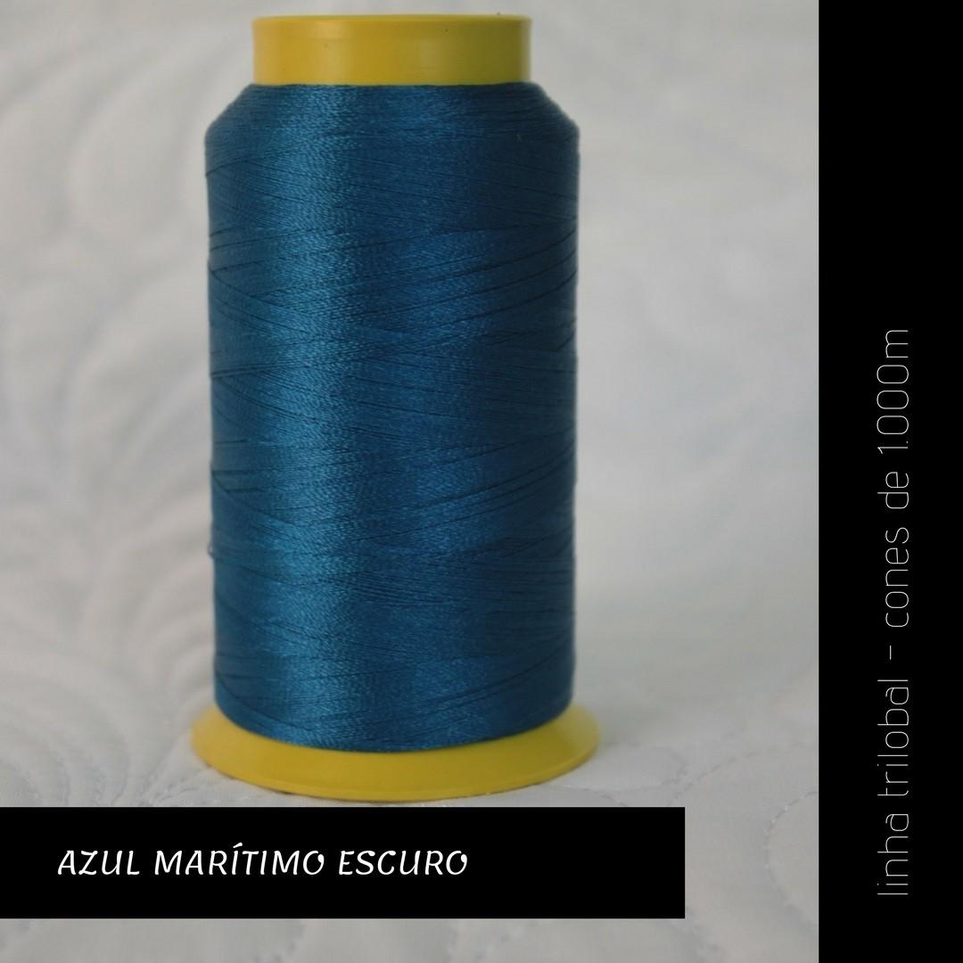 Linha trilobal - cor Azul Marítimo Escuro - 1000 metros