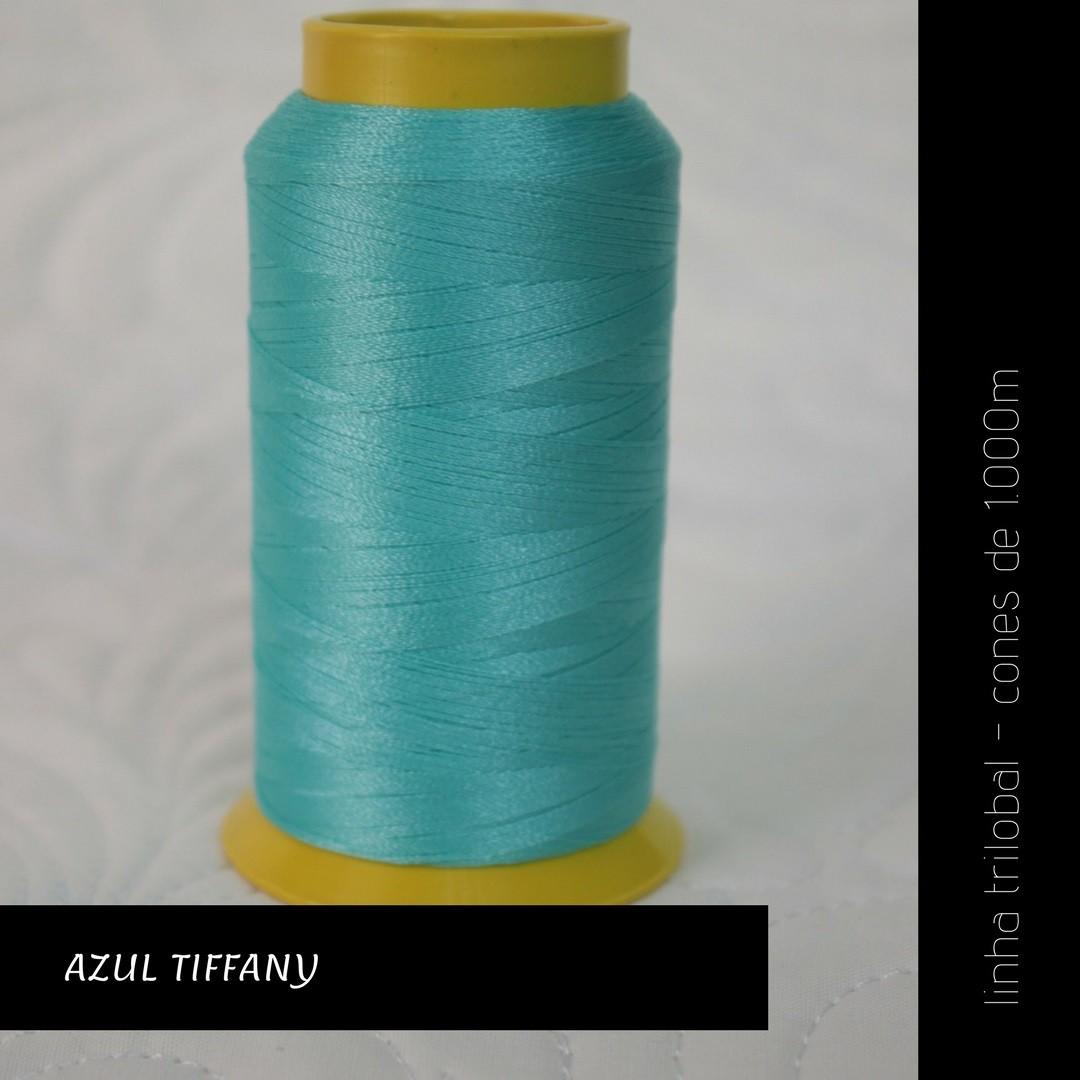 Linha trilobal - Cor azul tiffany- 1000 metros