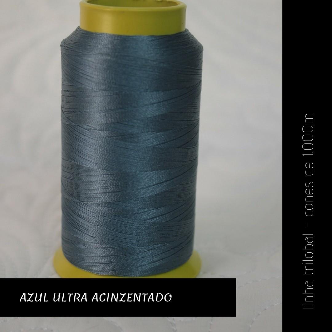Linha trilobal - cor Azul Ultra Acinzentado - 1000 metros