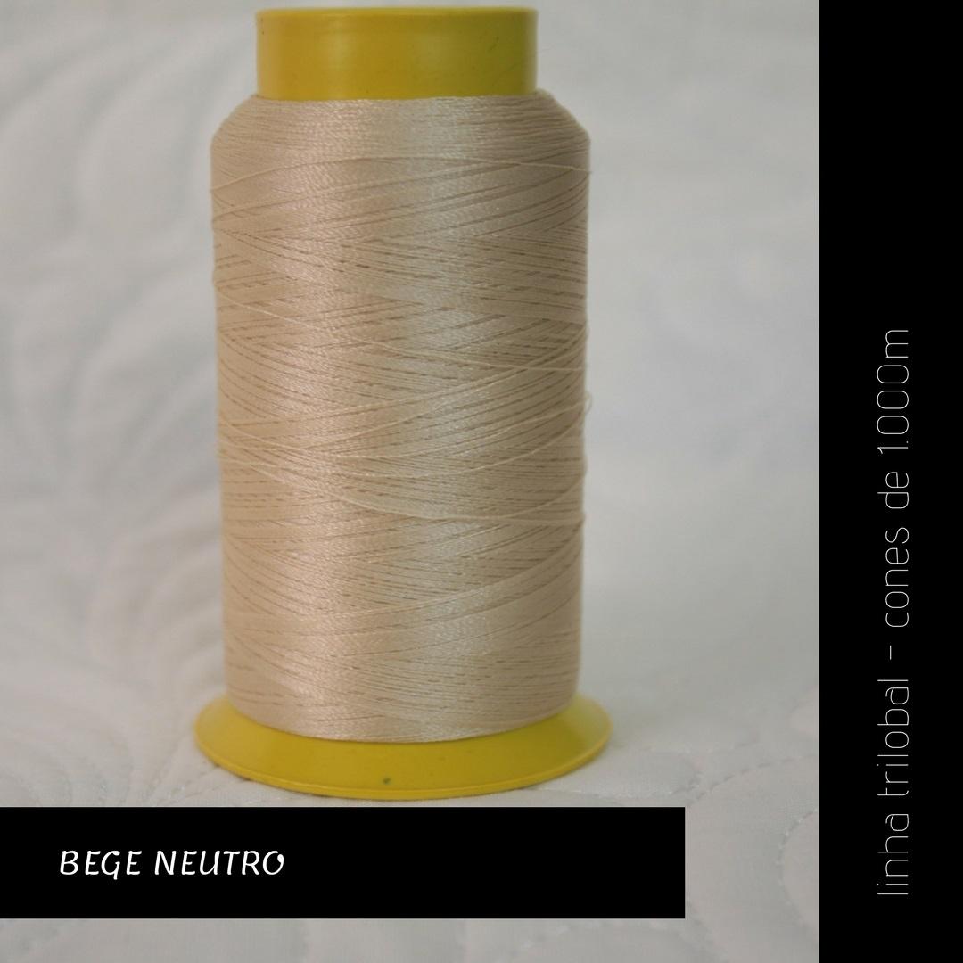 Linha trilobal - cor Bege Neutro - 1000 metros