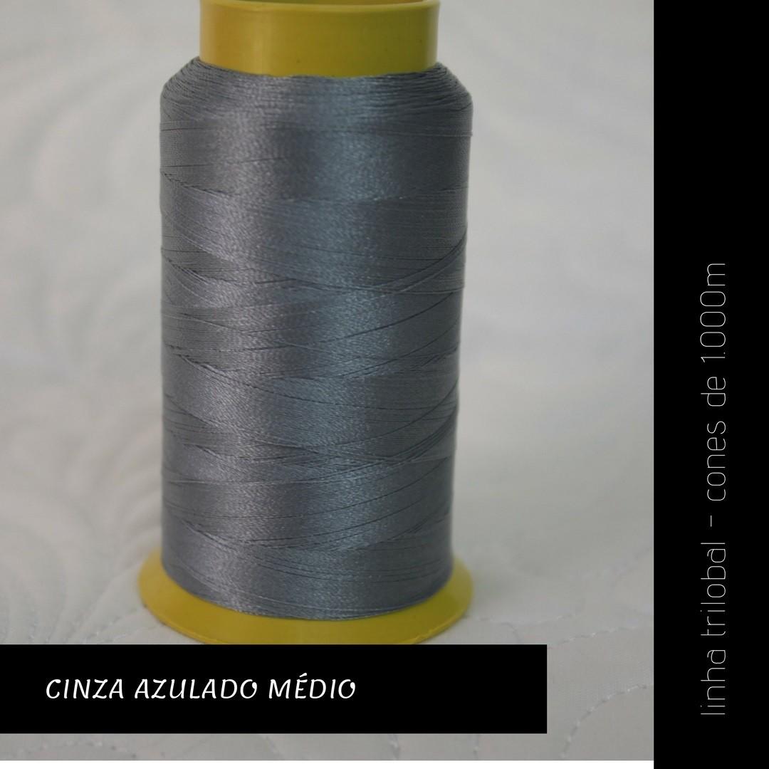 Linha trilobal - Cor cinza azulado médio- 1000 metros