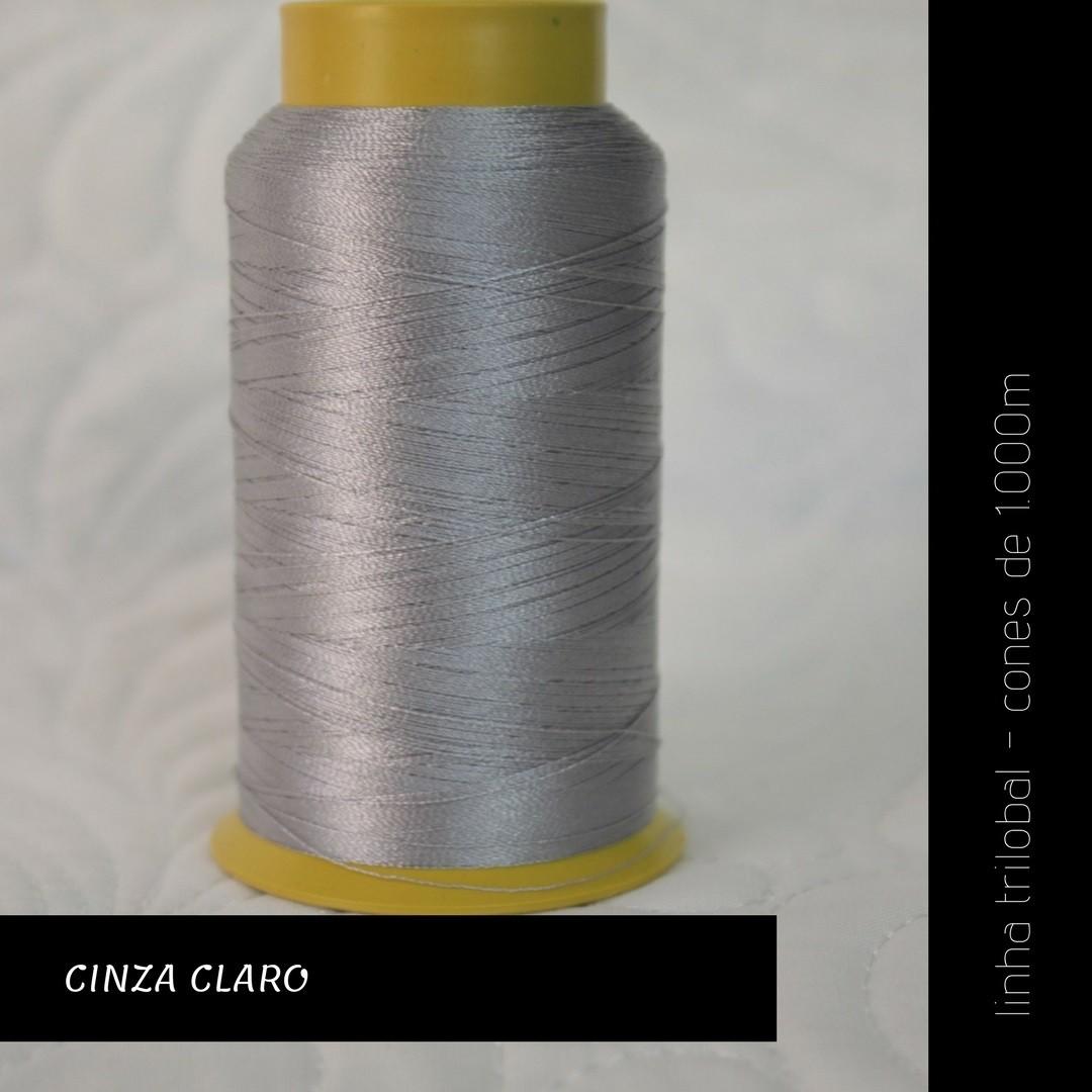 Linha trilobal - cor Cinza Claro - 1000 metros