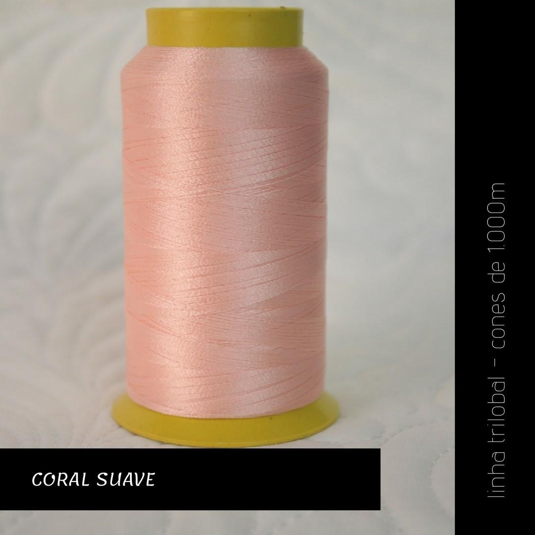 Linha trilobal - Cor coral suave- 1000 metros