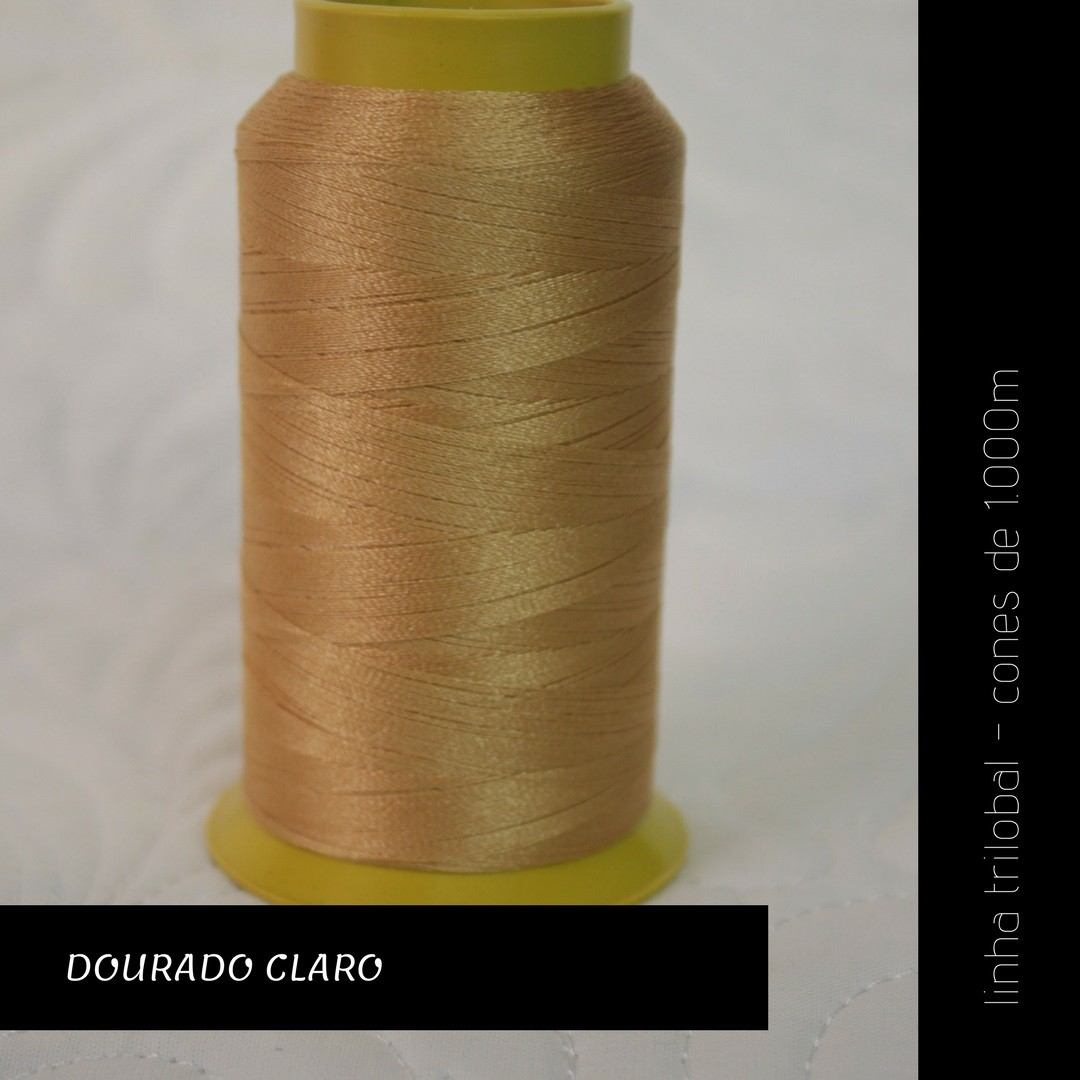Linha trilobal - cor Dourado Claro - 1000 metros