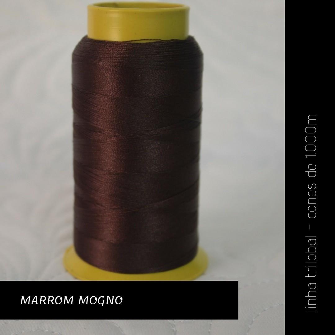 Linha trilobal - cor Marrom Mogno - 1000 metros
