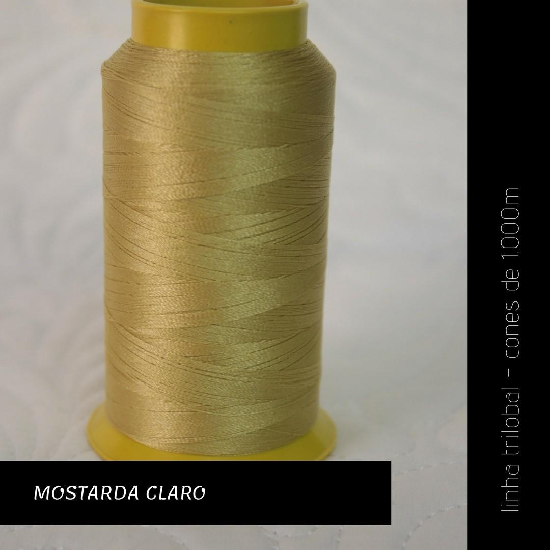 Linha trilobal - cor Mostarda Claro - 1000 metros