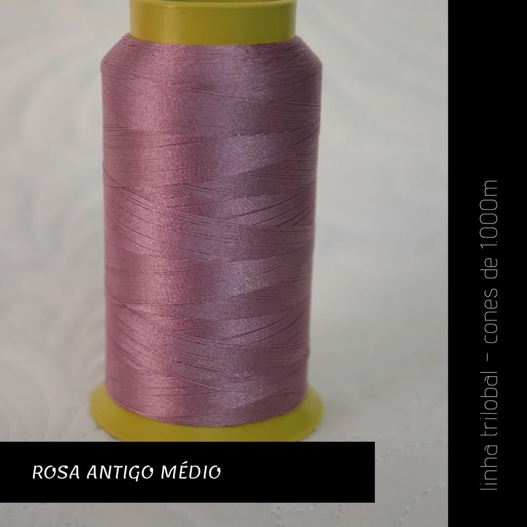 Linha trilobal - Cor rosa antigo médio- 1000 metros
