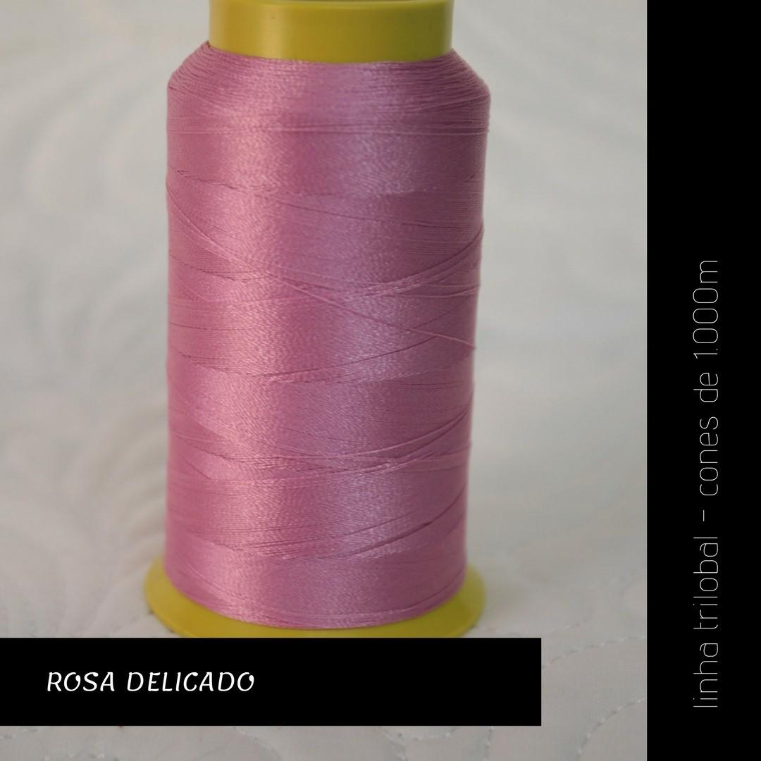 Linha trilobal - Cor rosa delicado- 1000 metros
