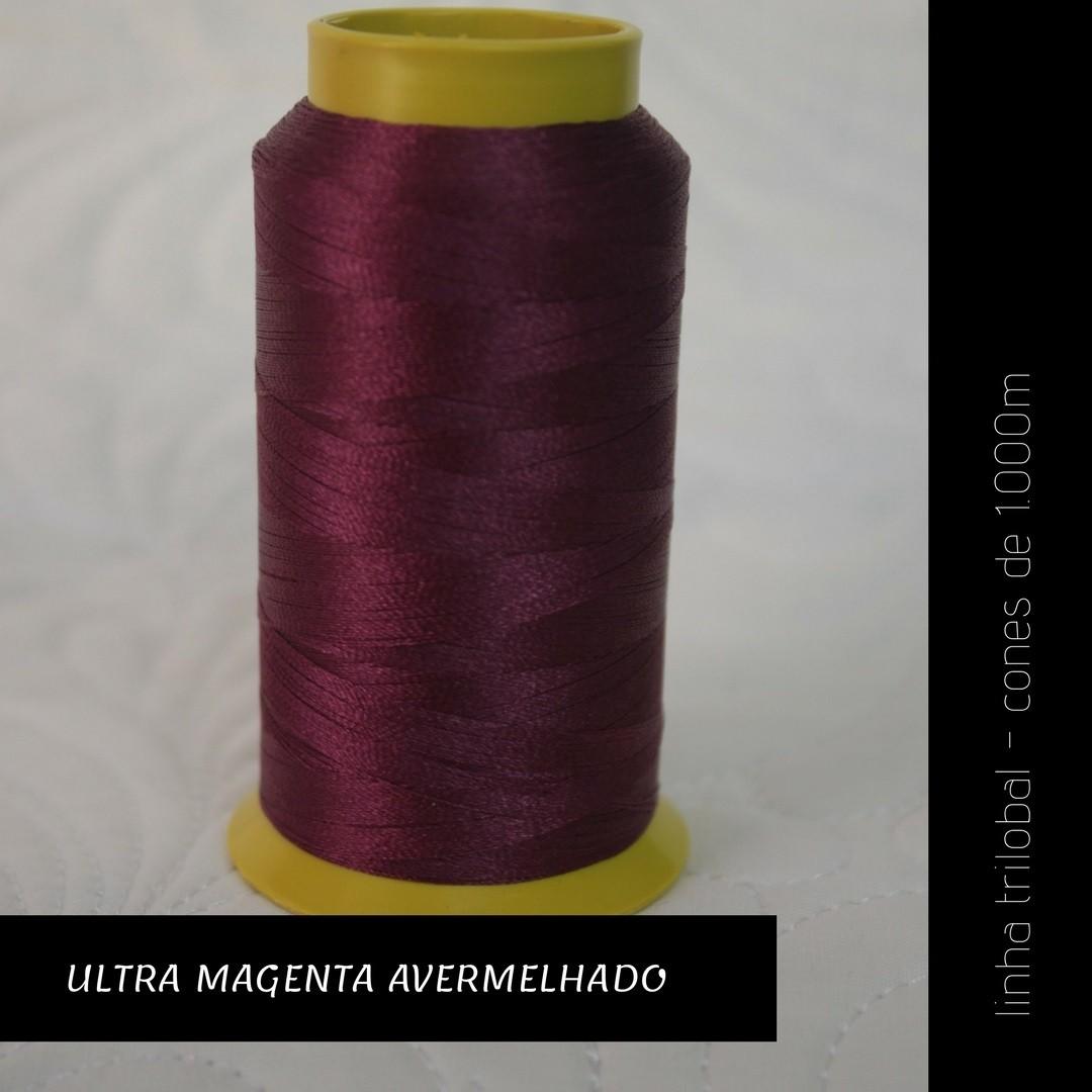 Linha trilobal - cor Ultra Magenta Avermelhado - 1000 metros
