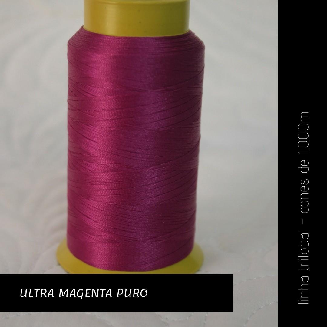 Linha trilobal - cor Ultra Magenta Puro - 1000 metros