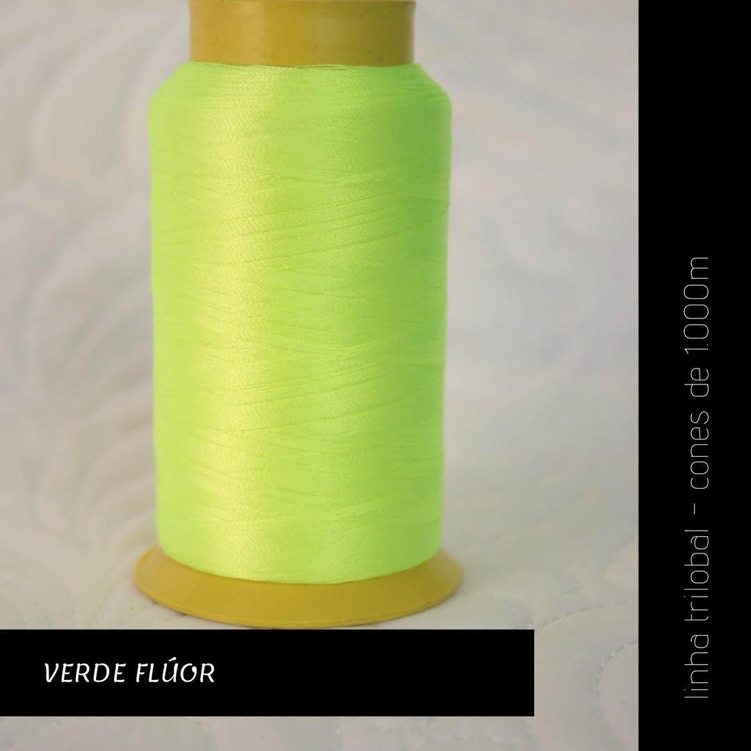 Linha trilobal - Cor verde flúor- 1000 metros