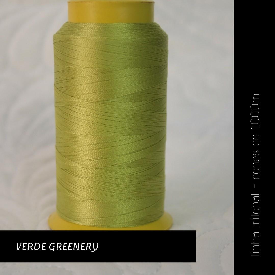 Linha trilobal - cor Verde Greenery - 1000 metros