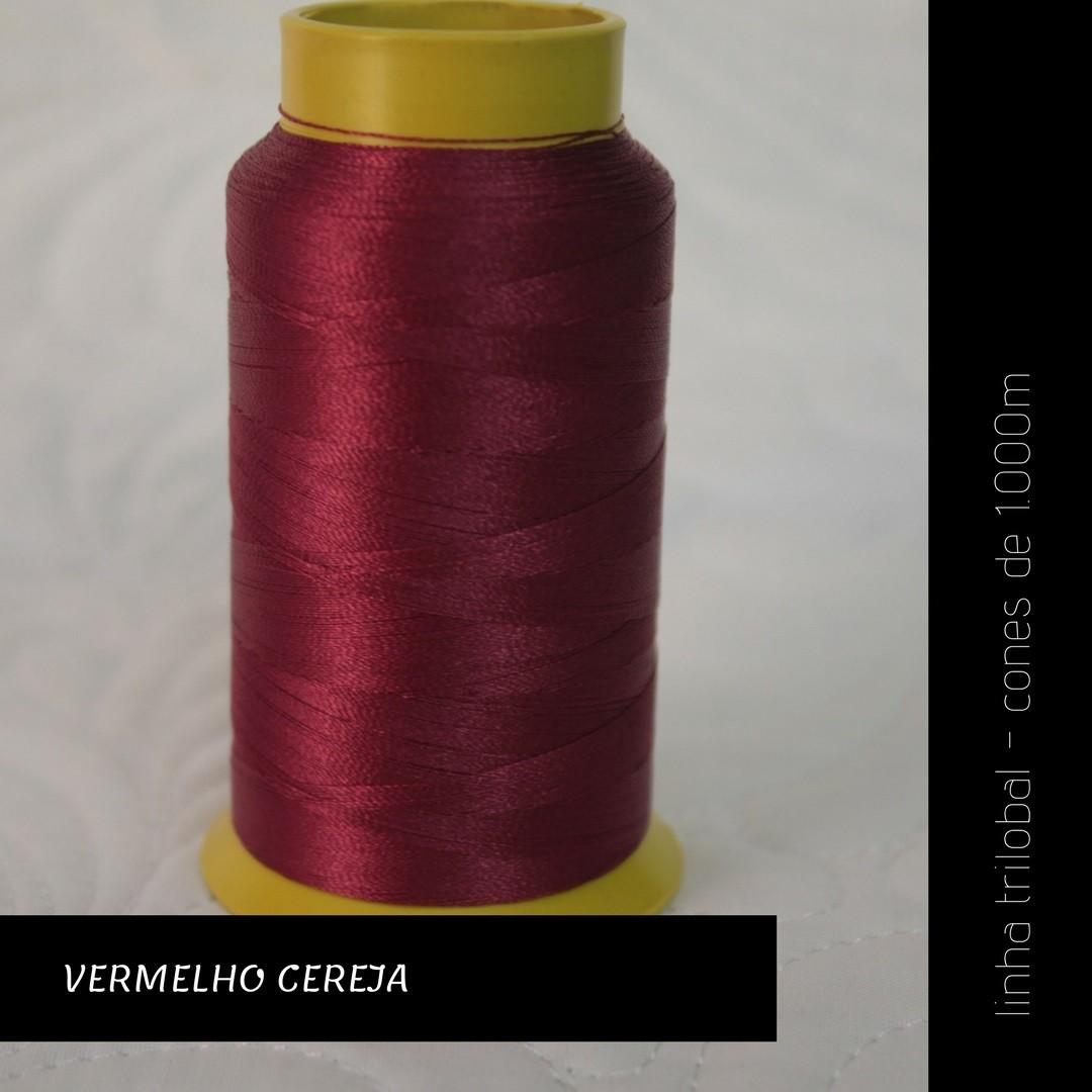 Linha trilobal - cor Vermelho Cereja - 1000 metros