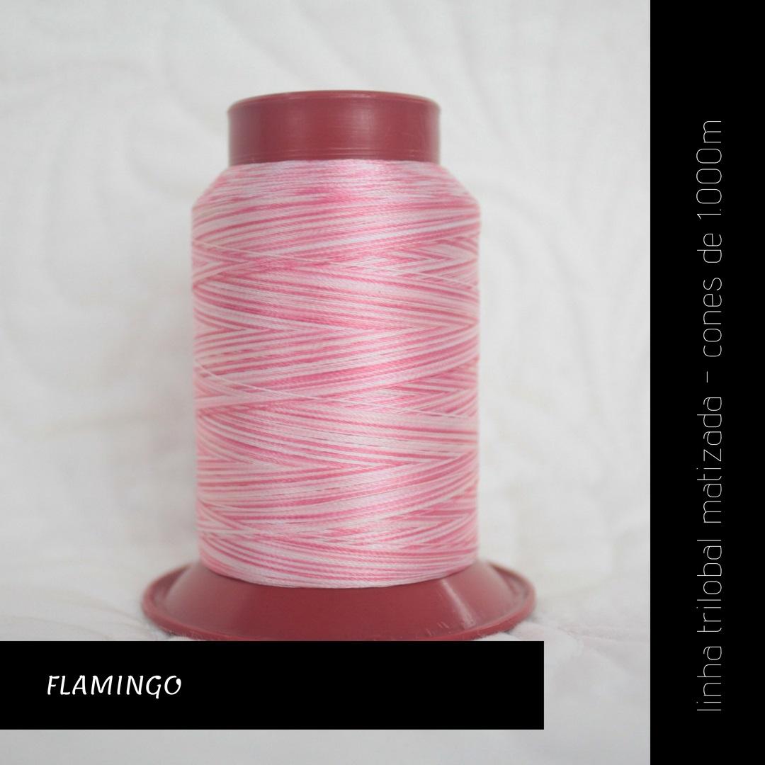 Linha trilobal Matizada - cor Flamingo - 1000 metros