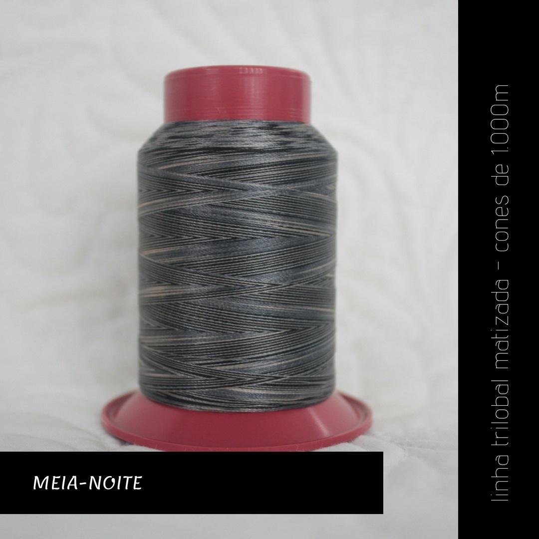 Linha trilobal Matizada - cor Meia-noite - 1000 metros