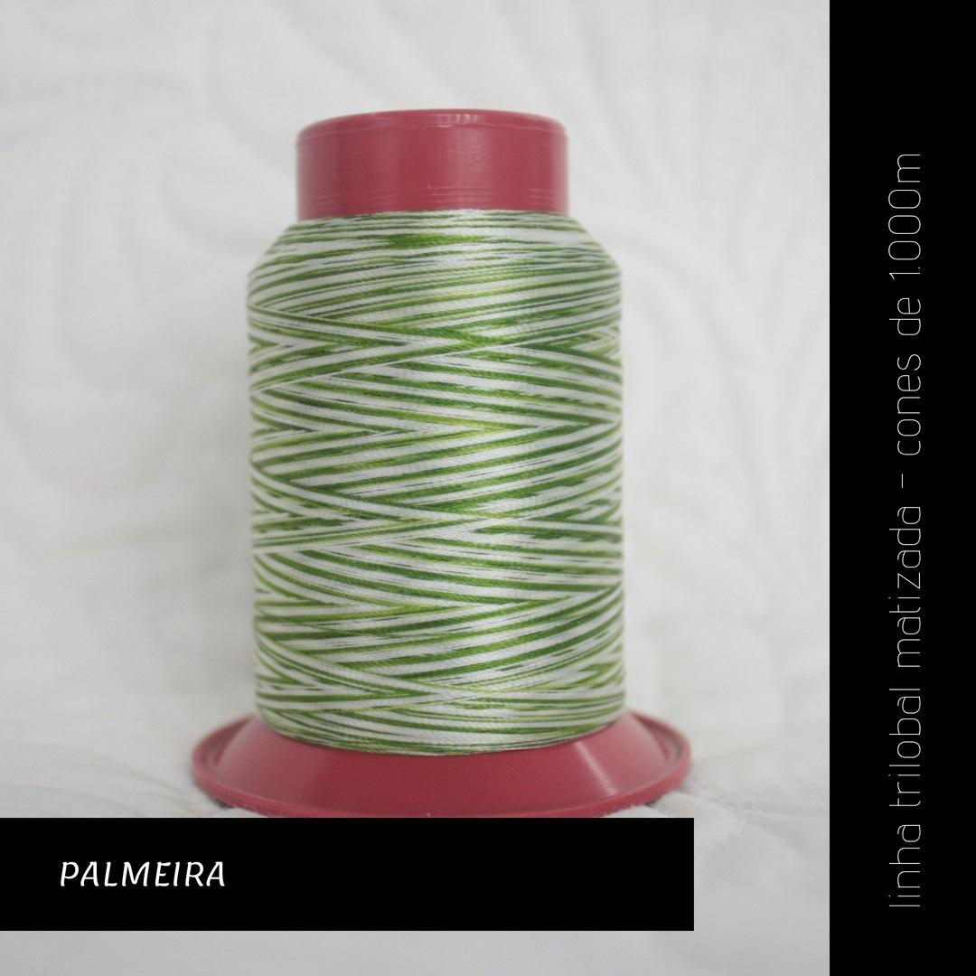 Linha trilobal Matizada - cor Palmeira - 1000 metros