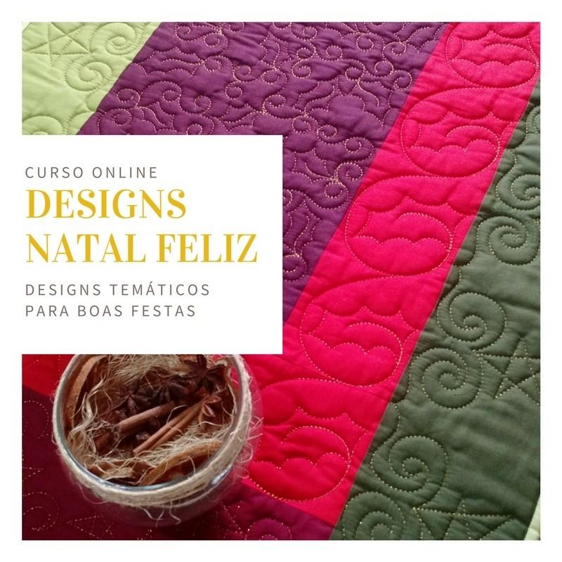 Quiltando Designs para Natal Feliz - curso online