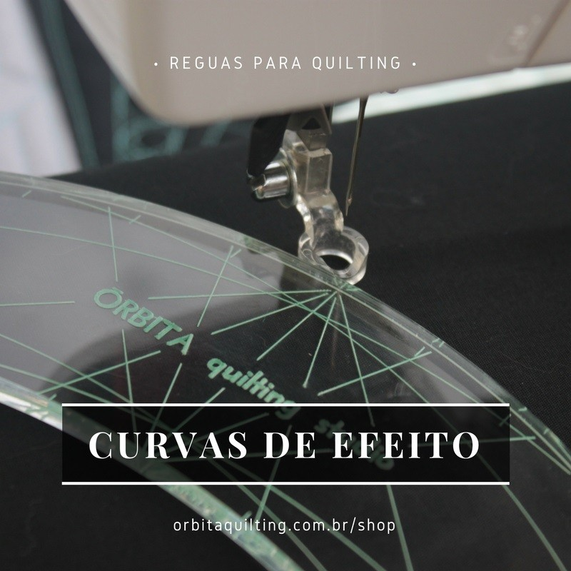 Régua de quilting Curvas de Efeito