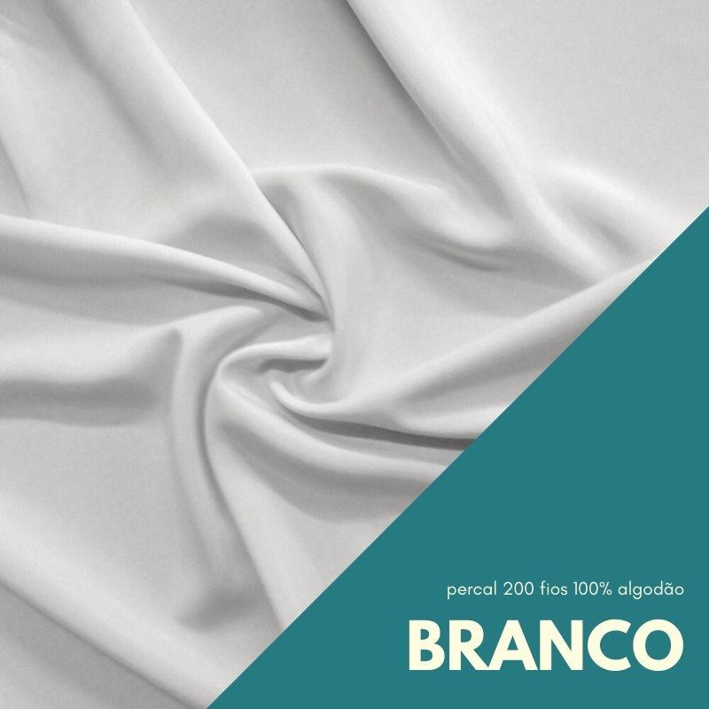 Tecido Percal Cor Branco - 100% algodão com 2,50m de largura