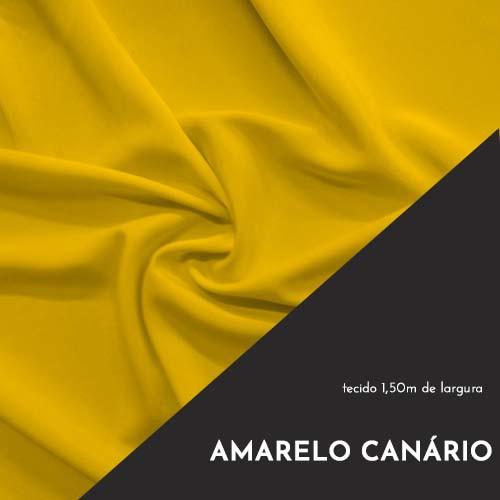 Tecido Tricoline Liso Cor Amarelo Canário 100% algodão
