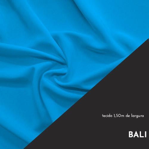 Tecido Tricoline Liso Cor Azul Bali 100% algodão