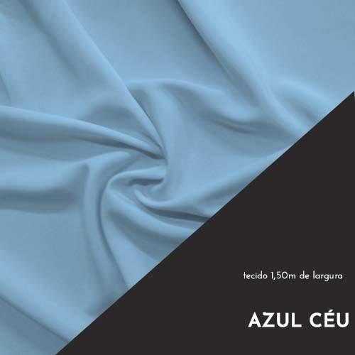 Tecido Tricoline Liso Cor Azul Céu 100% algodão